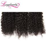 O emaranhado livra o cabelo 100% Curly Kinky do volume do Virgin de Remy