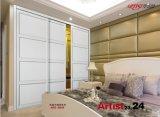 Modernes Aluminium 2017, das Garderoben-Türen (yg-004, schiebt)