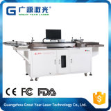 Máquina cortada etiqueta do laser da cor na indústria cortando