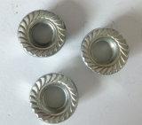 Écrous six-pans avec la bride, zinc, Chine