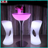 Tableau de barres carrés table haute table table de bar
