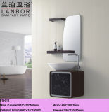Moderner hoher glatter Badezimmer-Schrank