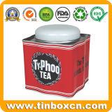 Олов хранения пакетиков чая сбор винограда для упаковывать Caddy чая металла