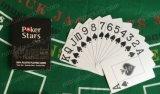 Le tisonnier en plastique imperméable à l'eau superbe, coutume a estampé les cartes de jeu en plastique de Poker100%