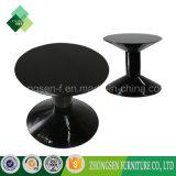 現代様式の黒のホテルのための円形のガラス茶表デザイン