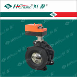 Valvola a sfera motorizzata ferro della flangia di Dqf con l'azionatore/valvola a sfera elettrica dell'acqua della valvola a sfera/flangia