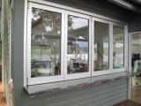 Finestra piegante di alluminio di Pnoc080914ls con la rete di zanzara