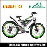 Grüner leistungsfähiger fetter Gummireifen-elektrisches Fahrrad