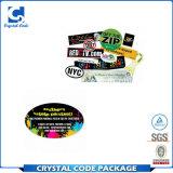 Escritura de la etiqueta promocional completa de la etiqueta engomada de la impresión en color