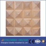 لوحة الجدار الزخرفية خشبية الصوتية إنتشار لامتصاص الصوت