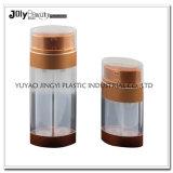 بلاستيكيّة واضحة مزدوجة جدار مربّع خال مستحضر تجميل مضخة زجاجة [30مل]