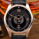 H371 Wholesale Form-Mann-Uhr-eindeutiger Vorwahlknopf-Entwurfs-wasserdichte Quarz-Uhr