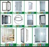6063-T5 het Glijdende Venster van de Legering van het aluminium met Berijpt Glas