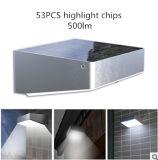La lumière solaire de mur avec les lampes de mur solaires extérieures de point culminant de détecteur de mouvement 53PCS DEL ébrèche des lampes de jardin