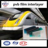Gestreifte Automobil0.76mm PVB Zwischenlage des blauen/grünen Band-für Selbstglas