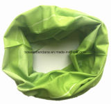Custom Made Design imprimé Vert Polyester Microfibre Multifonctionnel Seamless Magic Headwear