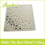 2017 azulejos acústicos de aluminio del techo del color de madera