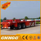 40 voet 2 Semi Aanhangwagen van de Container van de As Flatbed