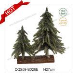 Albero di Natale modellato plastica della decorazione della casa del giardino di H27cm