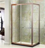 Le quart de cercle a courbé la pièce de douche en verre de glissement, pièces jointes faisantes le coin bon marché de douche
