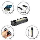 6PCS SMD LED 18650 Rechargeable Power Bank Flashlight /Headlamp Poppas-6616