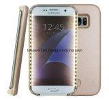 Het nieuwe Licht die van Selfie van de Macht van de Batterij van de Aankomst omhoog het LEIDENE Geval van de Telefoon voor de Cel van de Melkweg van Samsung S5 S6 S7/het Mobiele Geval van de Dekking van de Telefoon opvlammen