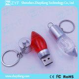 Flash Drive decoración del festival acrílicos de la lámpara del bulbo del USB (ZYF1532)