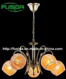 Самомоднейшая стеклянная потолочная лампа 2014 с желтым стеклом цвета
