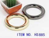 Curvatura do anel-O do metal da liga do zinco para a bolsa