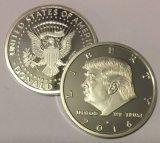 Pièce de monnaie de la nouveauté 30mm d'aigle plaquée par argent en bon état du Président Donald Trump 2017 d'Aizics