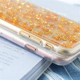 Задняя сторона обложки телефона TPU жидкостная в случай телефона способа 7plus 6 6splus iPhone 7 прозрачный (XSDD-004)