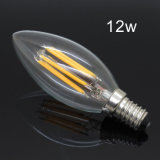 Bombilla LED E14 filamento de la lámpara de cristal 220V retro Edison Vela