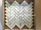 Mosaico de piedra blanco italiano estatuario afilado con piedra de Calacatta para el suelo del mármol de la familia