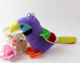Jouet mou de perroquet de jouet d'oiseau bourré par animal mignon de jungle à vendre