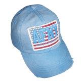 Gorra de béisbol lavada venta caliente con la insignia delantera Gjwd1738