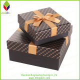 Promocional rígido de cartón impresión de la caja con el Bowknot