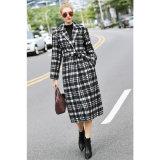 Capa blanco y negro de la cintura del paño del caso para la ropa de la mujer