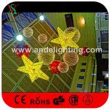 Luzes decorativas da estrela 3D do festival da alameda de compra do Natal