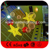 Luces decorativas de la estrella 3D del festival de la alameda de compras de la Navidad