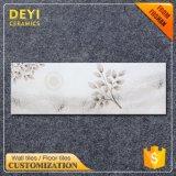 Azulejo de mármol blanco chino del cuarto de baño de la pared interior del diseño de la mirada de las baldosas cerámicas 250*750