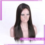 Pelucas brasileñas del cordón del pelo humano de la Virgen natural de la rayita de Glueless