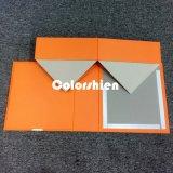 Boîte-cadeau se pliante jaune de papier classique d'emballage de Cosmtic avec