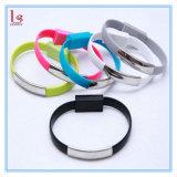 Bande de poignet de bracelet de câble de caractéristiques du téléphone USB pour l'androïde et le téléphone 5/5s/6s