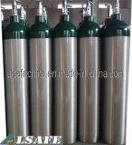 Ricarica medica di alluminio della bottiglia di gas O2