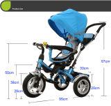 Rit Met drie wielen de Van uitstekende kwaliteit van de Jonge geitjes van de Kinderwagen van de Wandelwagen van de Baby van China op Auto