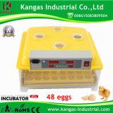 Incubadora do ovo do preço de grosso mini para 48 ovos