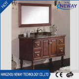 Vaidade chinesa Home de madeira contínua branca clássica do banheiro