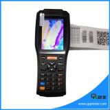 Varredor Handheld Android do código de barras da tela de toque PDA industrial com impressora