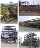 Sistema di sollevamento e di trasferimento della piattaforma tre di parcheggio