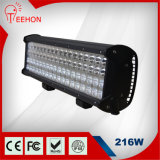 216W IP68 Offroad Quad Row LED Light Bar
